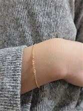 Load image into Gallery viewer, Dainty Sunstone Bracelet - Handmade Jewelry - 14k Gold Filled