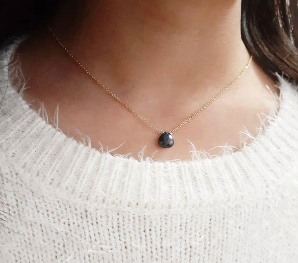 Genuine Blue Sapphire Necklace, Handmade in 14k Gold Filled or Sterling Silver, September Birthstone (Image 1)