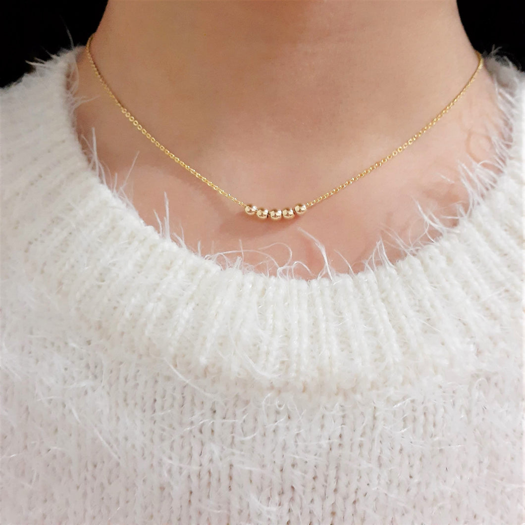 Dainty Gold Fidget Necklace - Handmade Jewelry - 14k Gold Filled