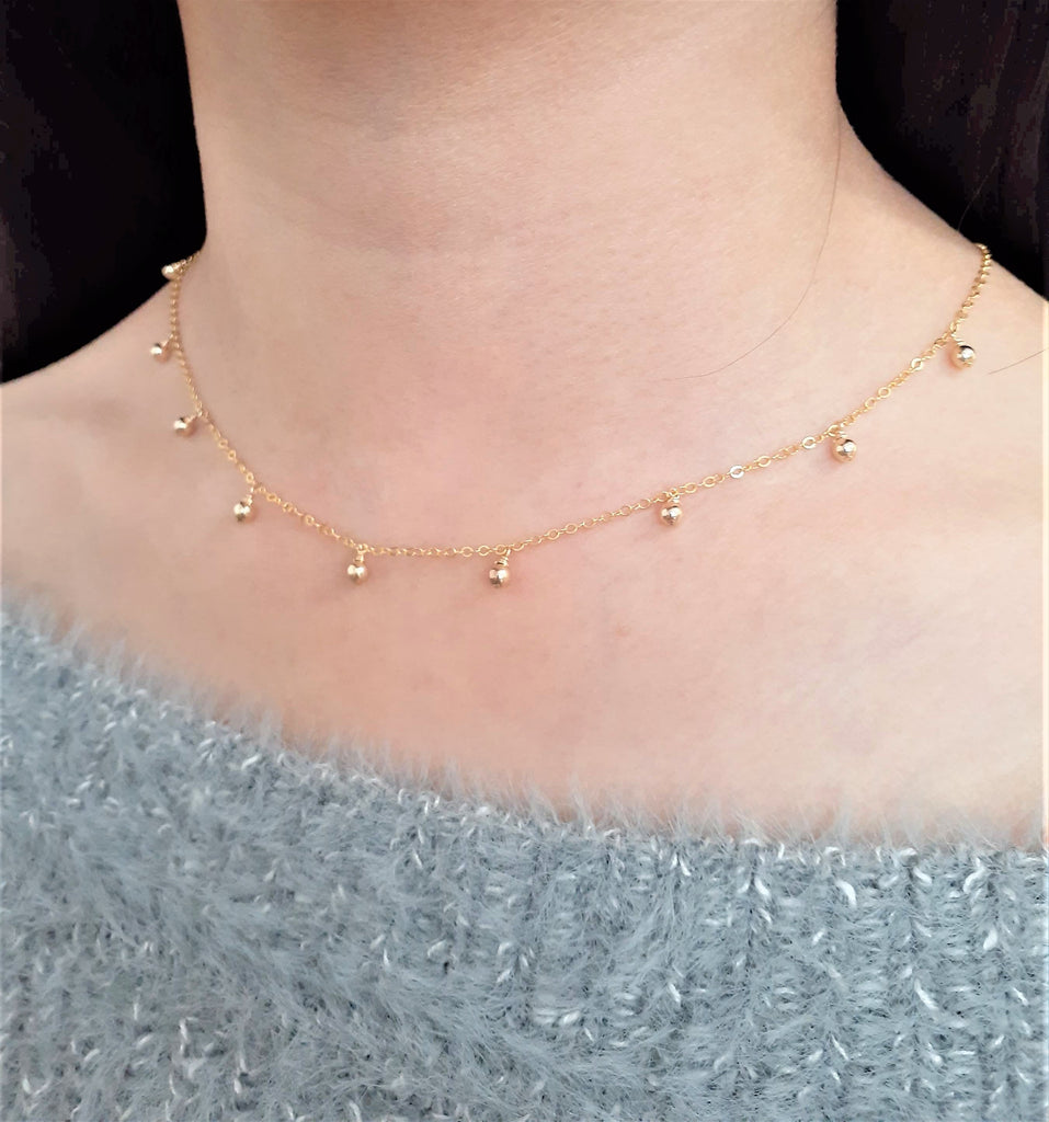 Minimalist Simple Gold Necklace - 14k Gold Filled - Handmade Jewelry