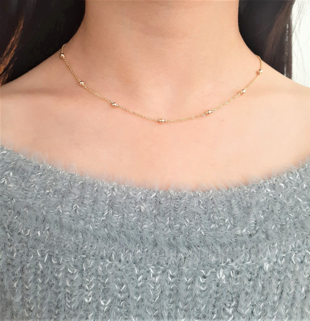 14k Gold Filled Dainty Gold Necklace - Handmade Jewelry