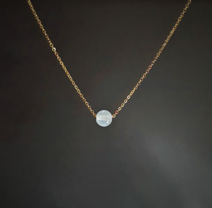 Aquamarine Floating Necklace