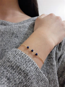 Dainty Lapis Lazuli Bracelet - December Birthstone - Handmade Jewelry - 14k Gold Filled