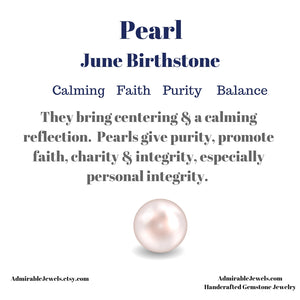 Genuine Freshwater Pearl Necklace - 14k Gold Filled - June Birthstone - Pearl Healing Properties (image 7)