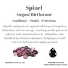Spinel Healing Properties