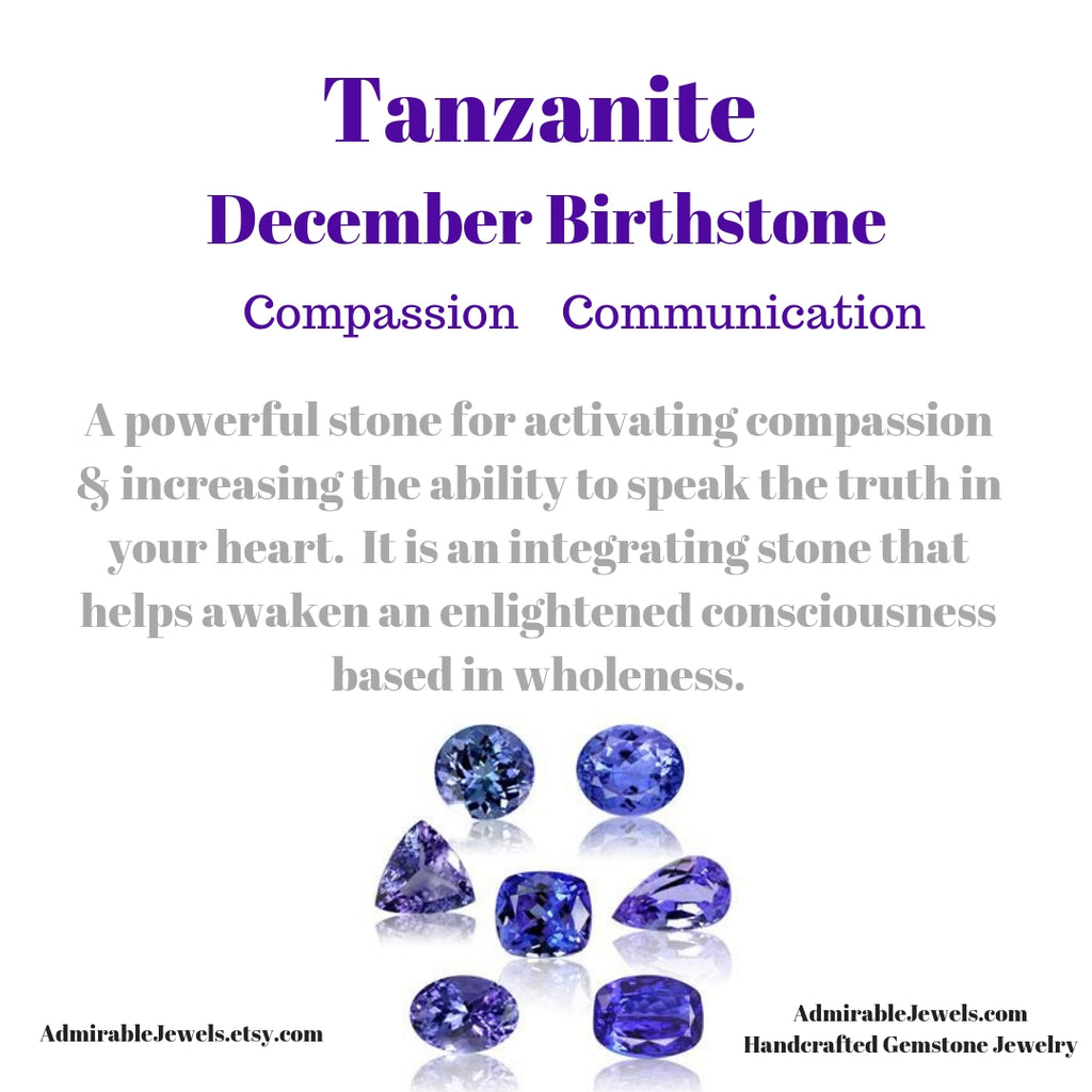 Tanzanite Floating Necklace, December Birthstone / Handmade Jewelry / 14k Gold Filled or Sterling Silver Chain / Simple Dainty Minimal - Tanzanite Healing Properties (image 7)