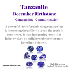 Load image into Gallery viewer, Tanzanite Floating Necklace, December Birthstone / Handmade Jewelry / 14k Gold Filled or Sterling Silver Chain / Simple Dainty Minimal - Tanzanite Healing Properties (image 7)