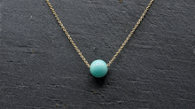 Load image into Gallery viewer, Amazonite Floating Necklace - Fidget Necklace - Handmade Jewelry - Stress Relief Necklace - Simple Everyday Necklace - image 2