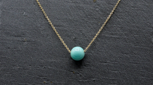 Amazonite Floating Necklace - Fidget Necklace - Handmade Jewelry - Stress Relief Necklace - Simple Everyday Necklace - image 2