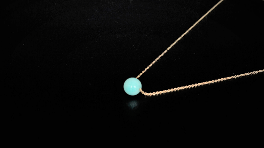 Amazonite Floating Necklace - Fidget Necklace - Handmade Jewelry - Stress Relief Necklace - Simple Everyday Necklace - image 1