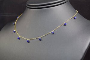Worn on Law and Order SVU - Lapis Lazuli Necklace - Handmade Jewelry - Admirablejewels - Lapis Choker - Image 3