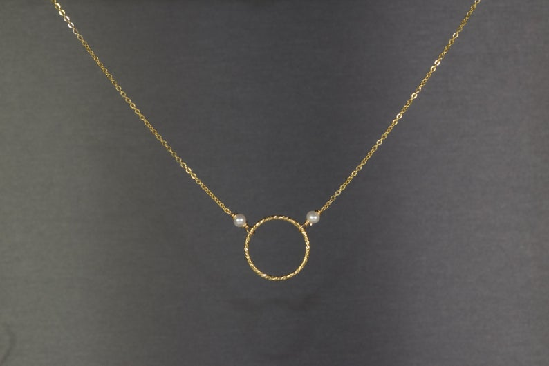 Pearl Hoop Necklace