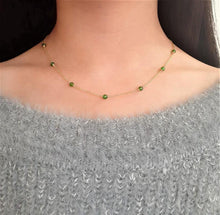 Load image into Gallery viewer, Delicate Chrome Diopside Necklace / Handmade Jewelry / 14k Gold Filled or Sterling Silver