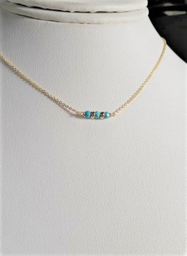 Sleeping Beauty Turquoise Bar Necklace