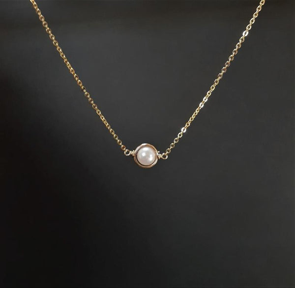 Akoya Pearl Gold Necklace