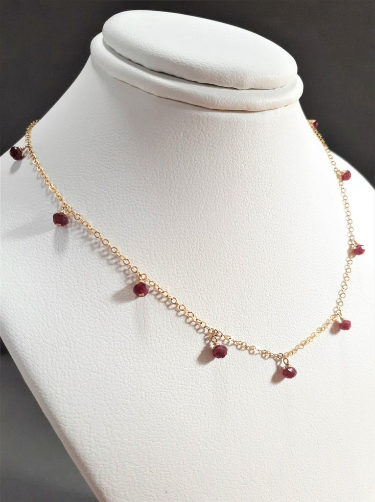 Ruby Drop Necklace