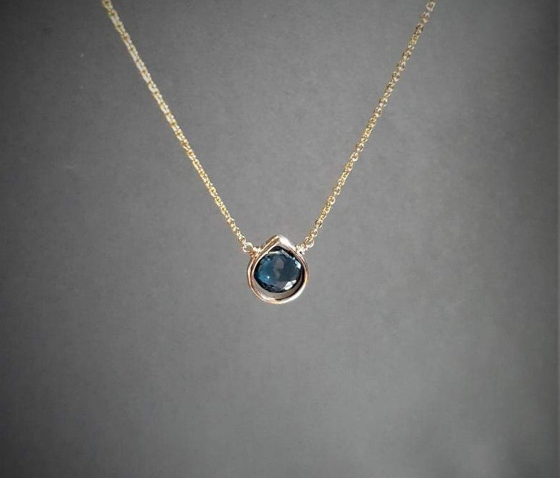 London Blue Topaz Heart Shape Pendant Necklace