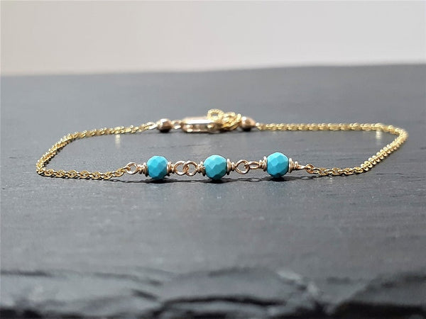 Sleeping Beauty Turquoise Anklet