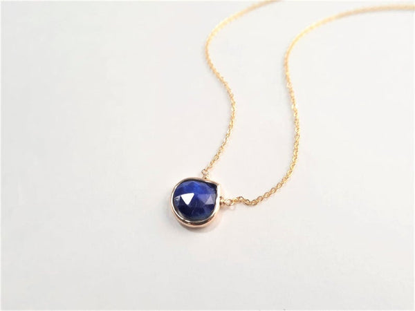 Lapis Lazuli Heart Shaped Briolette Necklace
