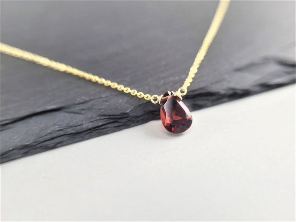 Garnet Pan Briolette Necklace