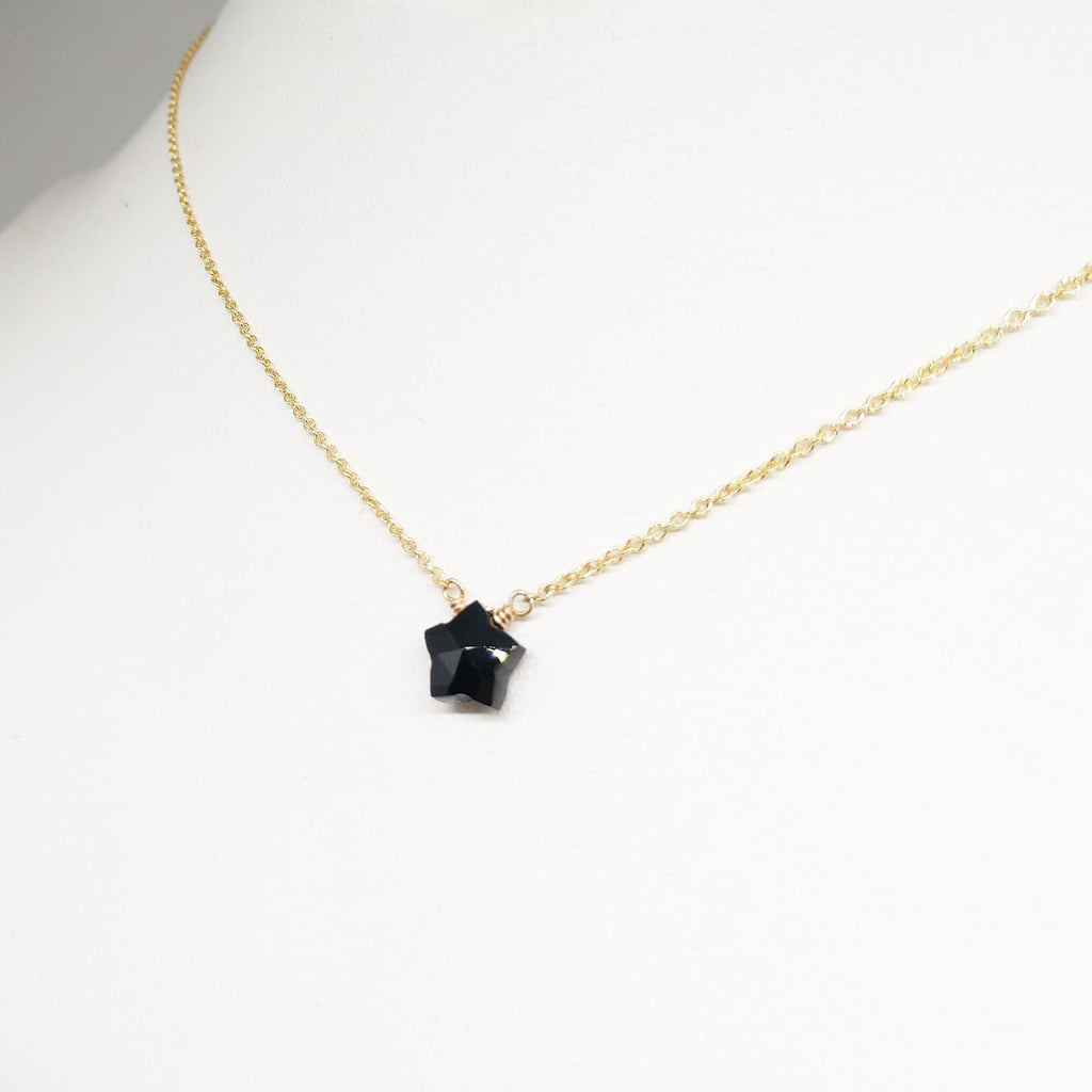 Dainty Spinel Star Necklace - 14k Gold Filled or Sterling Silver - August Birthstone - Handmade Jewelry - Star Necklace - Gold Necklace, Silver Necklace (image 3)