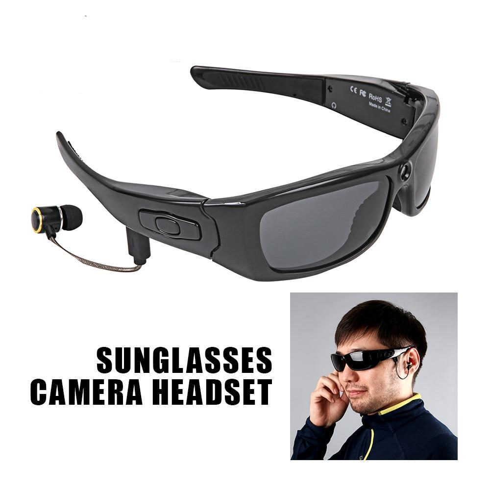 fc9b5718ec Sunglasses Camera Headset HD1080P Bluetooth MP3 Player Photo Video Recorder  Mini DV Camcorder