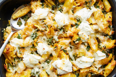pumpkin pasta with kale, NYT cooking