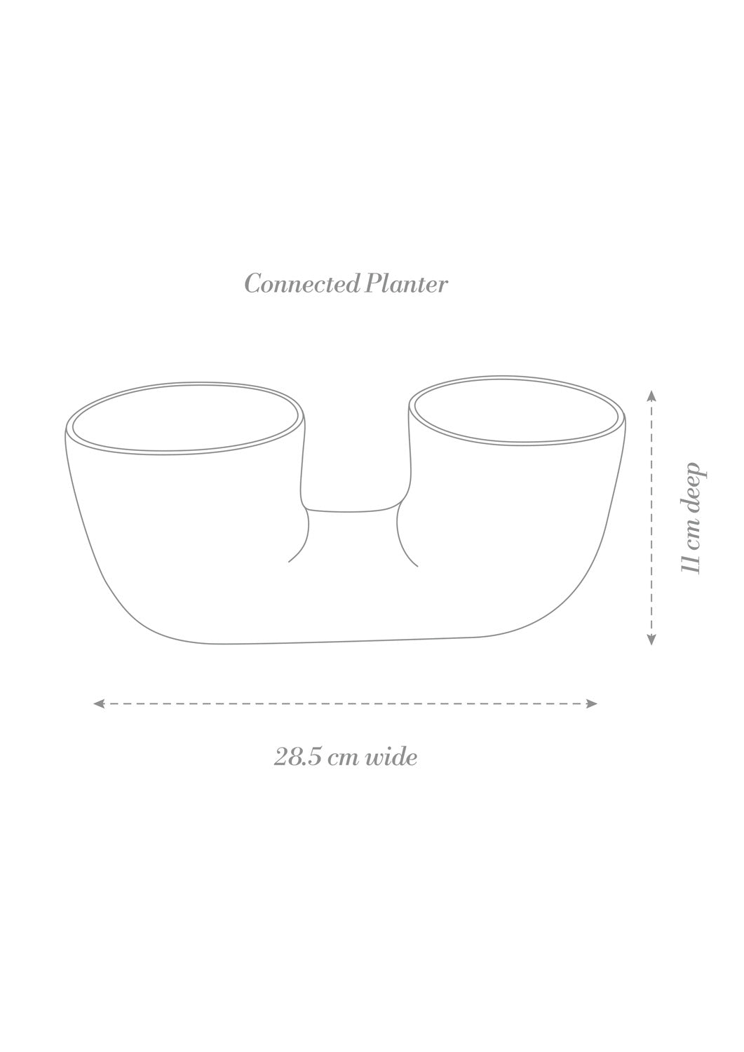 Connected Planter Grey Crystal