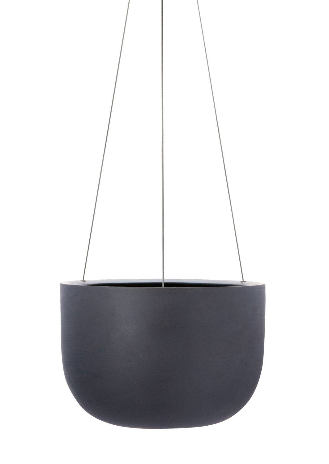 Raw Earth Chalk Black Charcoal Hanging Planter