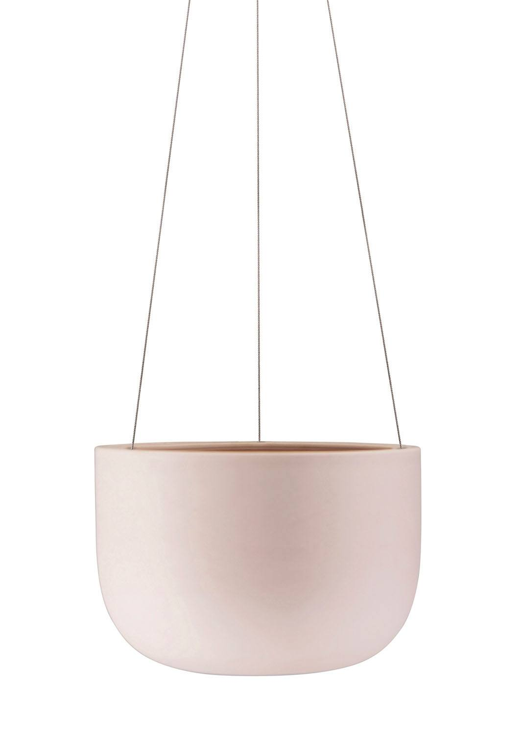Raw Earth Chalk Rock Salt Pink Hanging Planter