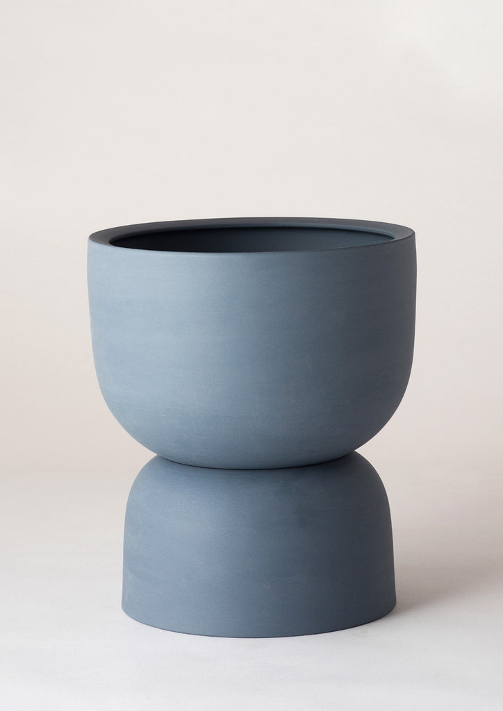 Raw Earth Plant Stand Pot Slate Blue