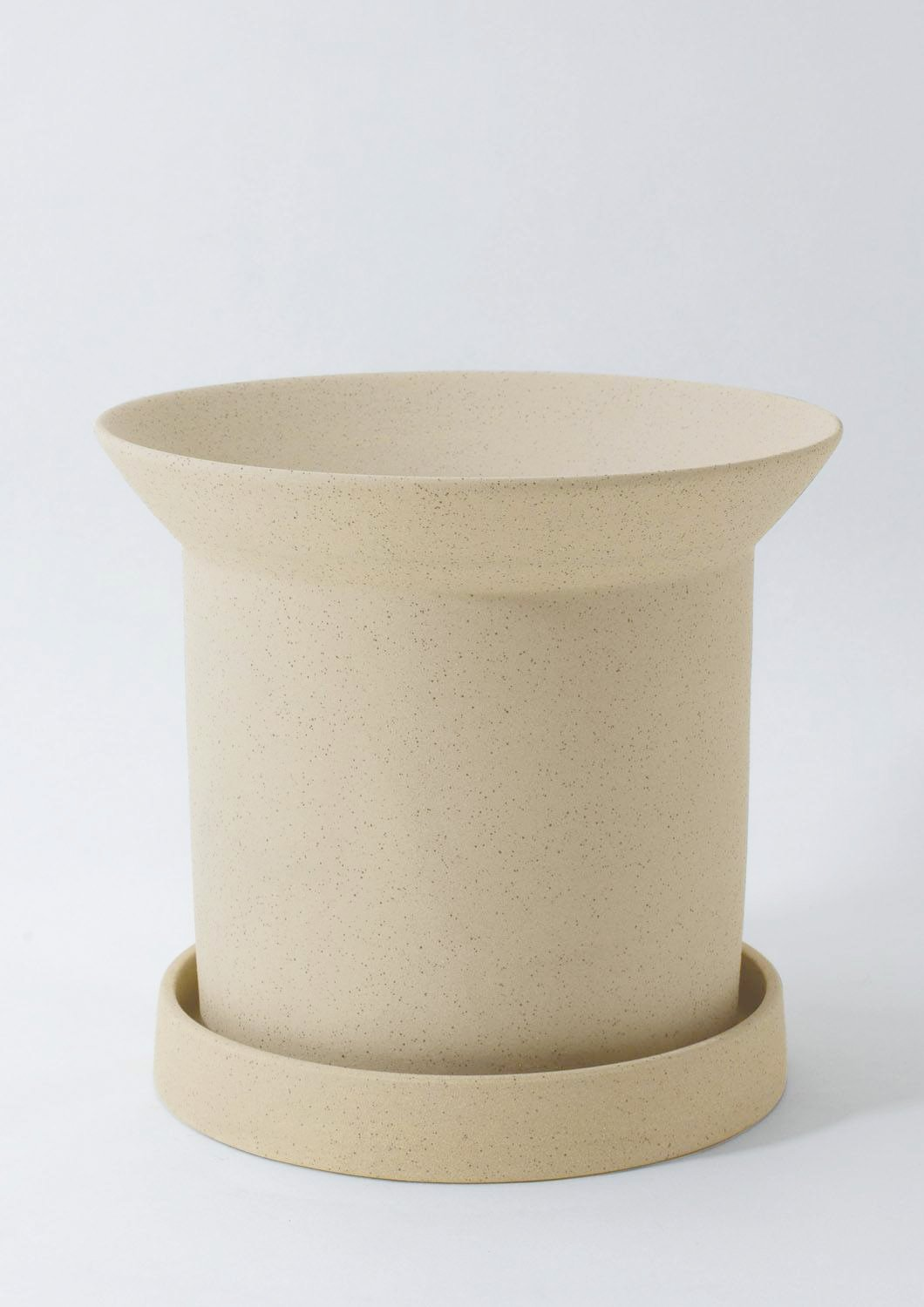 Sandstone Plant Pot - Small Buff