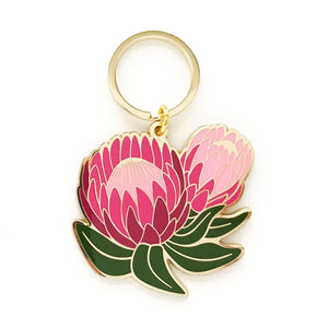 Protea Floral Keychain