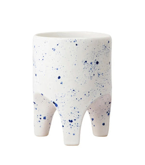 Arched Leg Planter Blue Crystal