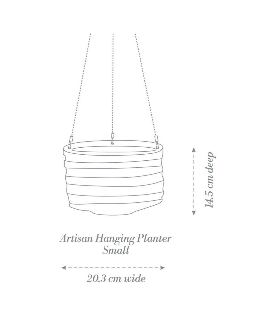 Artisan Hanging Planter Small Blue