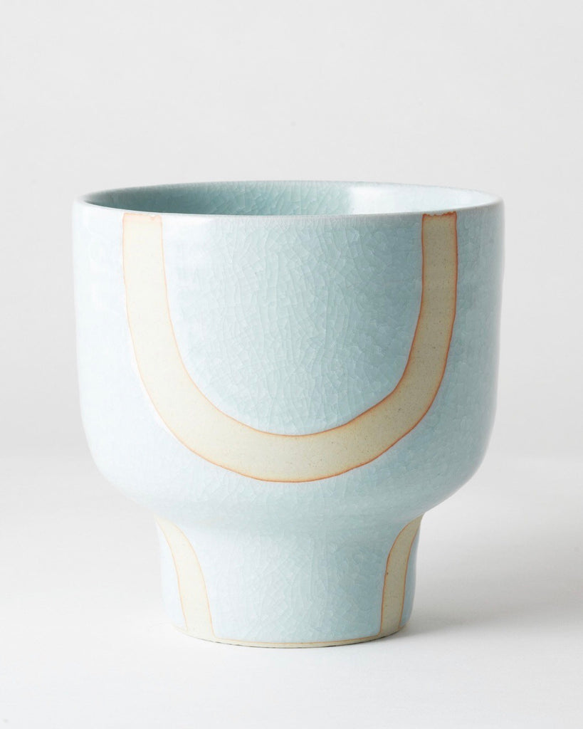 Riverstone Plant Pot Aqua Bend