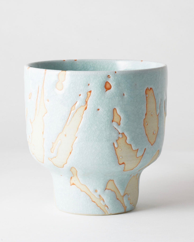 Riverstone Plant Pot Aqua Splash