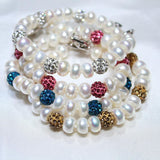 Quality Scape Women's Charm Bracelet - Natural Freshwater Pearls With 925 Sterling Silver - Fine Jewelry