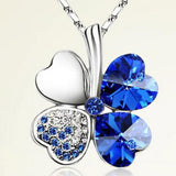 Quality Scape Girl's Clover Leaf Crystal Pendant Necklace - Fashion Jewelry