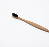 Bamboo Toothbrush with Charcoal Bristles Natural Dental Care for Home Family Travel