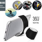 Outdoors Bicycle 360 Degrees Air Vent Mount Bicycle Car Cell Phone Holder For 3.5-6.0inch Phone Outdoor Cycling
