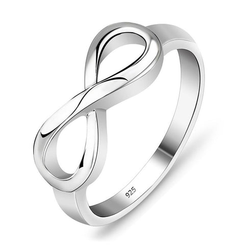 Quality Scape Women's Infinity Ring - 925 Sterling Silver - Fine Jewelry