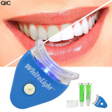 QIC Electric Dental Teeth Whiting Kit Including Battery Original White LED Light Tooth Whiten Toothpaste Gel Whitener Oral Care