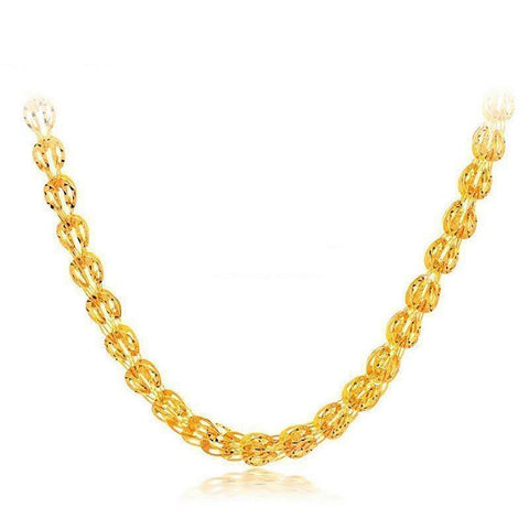 Quality Scape Women's Beautiful Classic Rope Chain Necklace 24K Solid Gold - Fine Jewelry