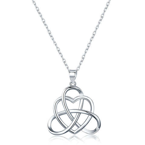 Quality Scape Women's Charming But Elegant Celtic Heart Design Pendant Necklace - Authentic 925 Sterling Silver - Fine Jewelry