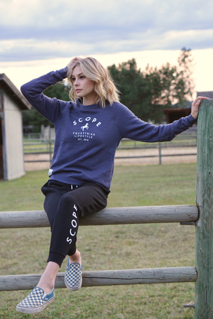 Classic Crewneck - Steel Blue - Scope Equestrian Lifestyle