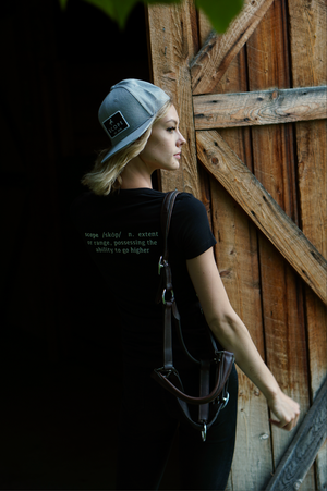 Definition Tee- Black - Scope Equestrian Lifestyle