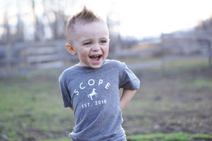 Kid's Classic Tee - Heather Grey - Scope Equestrian Lifestyle
