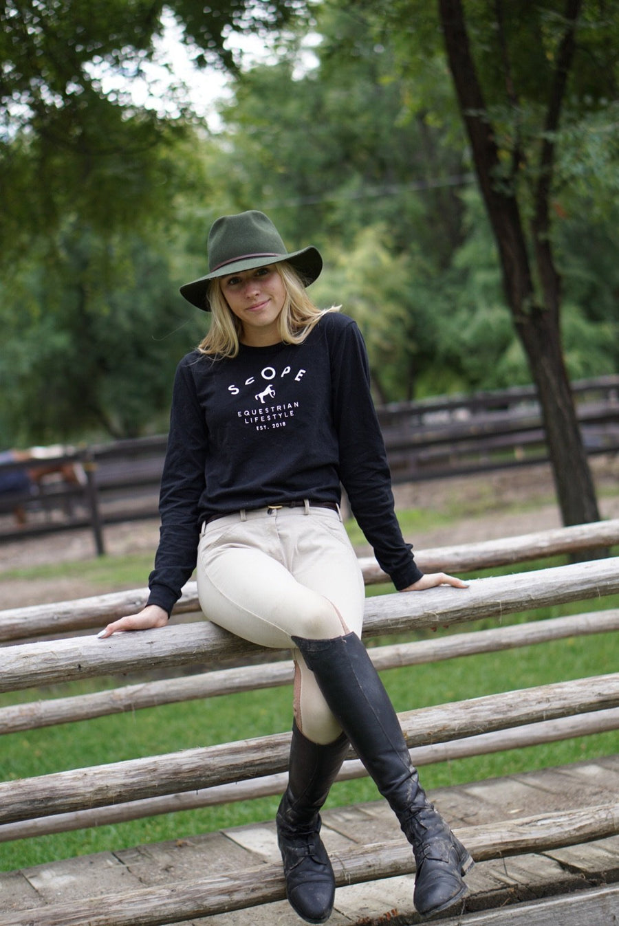 Classic Long Sleeve Tee - Black - Scope Equestrian Lifestyle
