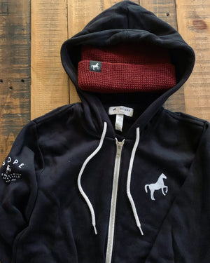 Black Full Zip Hoodie - Scope Equestrian Lifestyle